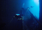 technical diver in Cyprus on a tech dive