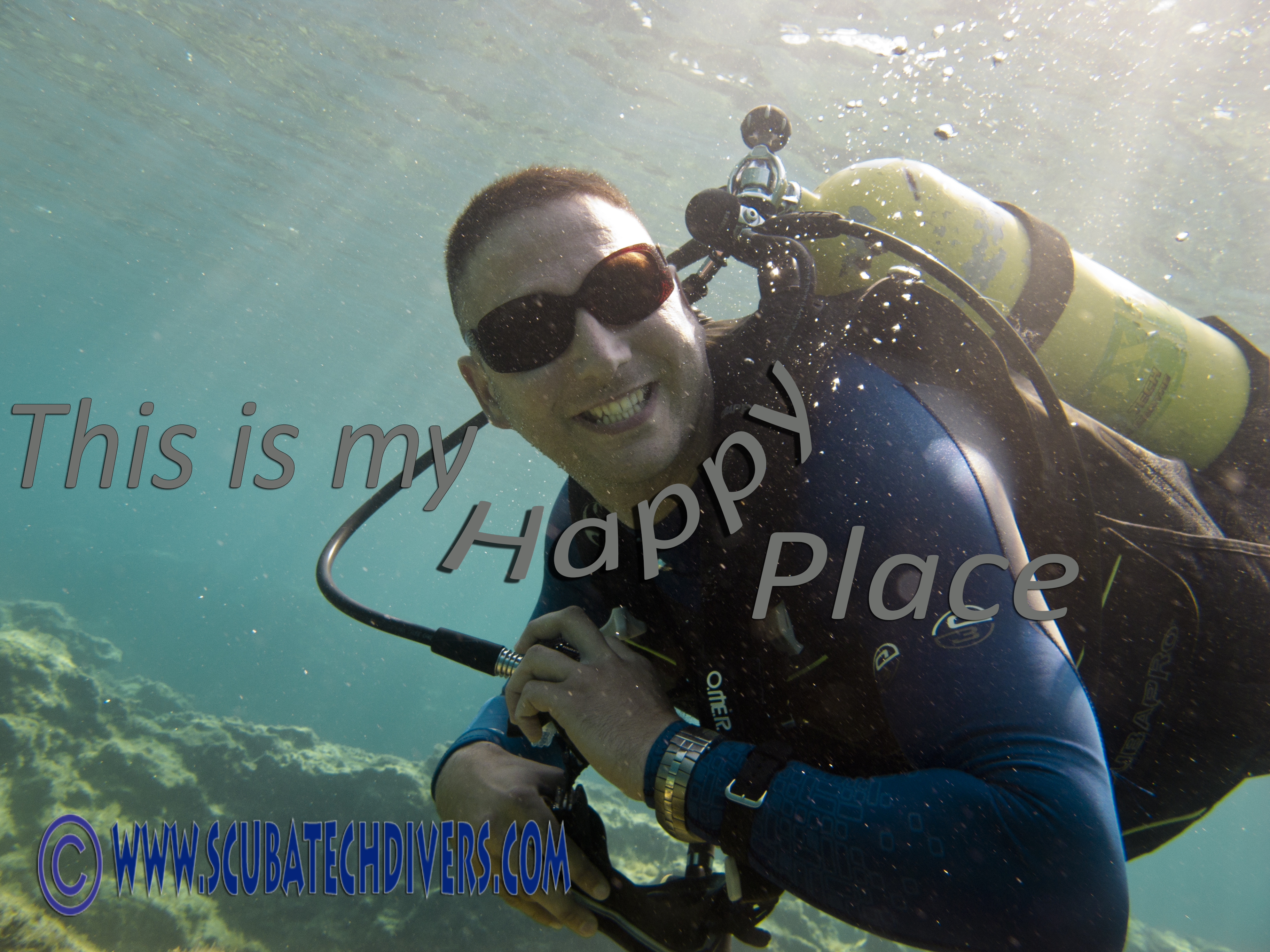 My happy place is scuba diving in Cyprus, where is yours?