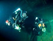 Divers on Zenobia in Technical Diving Equipment