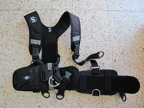Second hand ScubaPro Weight Harness available from Scuba Tech Diving Centre in Cyprus for Sidemount Divers