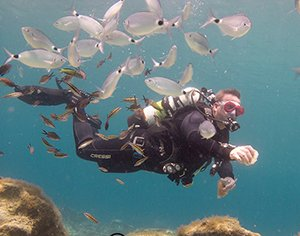divemaster from PADI trained and working at Scuba Tech diving centre cyprus