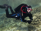 Drysuit training as part of a Divemaster Internship in Cyprus