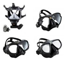 Range of poseidon diing masks available in Cyprus
