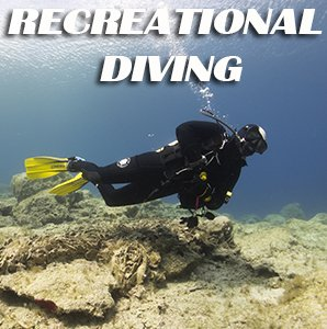 Diver Scuba Diving with a single cylinder in Protaras for PADI and BSAC Courses