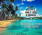 Scuba Entry Point not just a golden beach