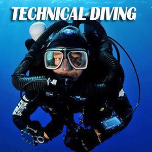 Technical Diver scuba diving in Cyprus