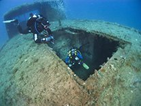 liberty wreck diving in Protaras Cyprus