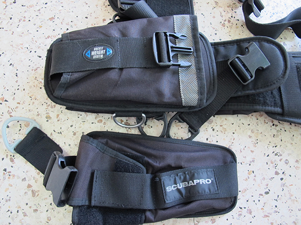 ScubaPro Weight Harness with weight pockets