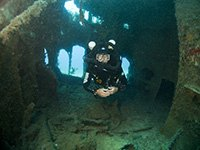 Technical diving on the cricket wreck in cyprus
