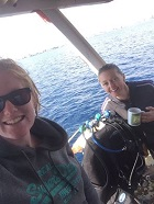 women scuba diving and technical diving in cyprus